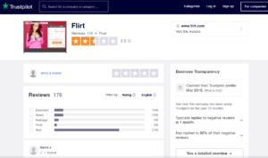flirt rating by trustpilot