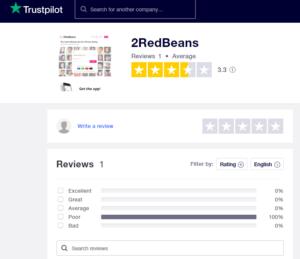 2RedBeans trustpilot