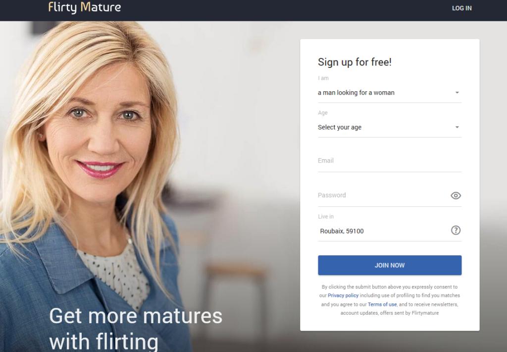 flirtymature.com site