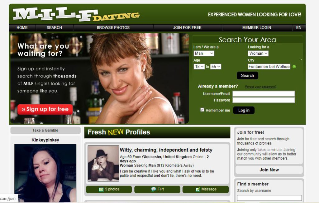 MILF-Dating Sign In