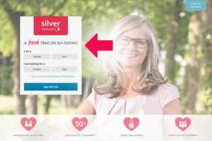 SilverSingles main page